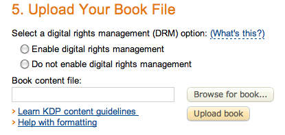 Amazon KDP digital rights management