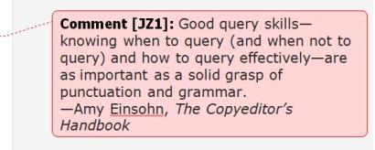 copyediting query
